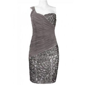 Sue Wong Dresses - One Shoulder Sequined Sheath Dress by Sue …